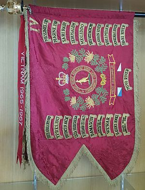 4th/19th Prince of Wales's Light Horse - Unit Guidon showing the battle honours of the 4th Light Horse Regiment