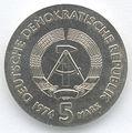 5 Mark DDR 1974 - 100. Todestag von Philipp Reis - Wertseite.JPG