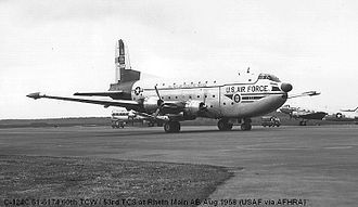 60th Air Mobility Wing - Douglas C-124A Globemaster II, AF Ser. No. 51-5174 of the 60th Troop Carrier Wing, August 1966. This aircraft was sent to AMARC in November 1969