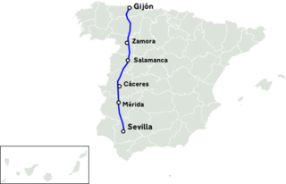 major highway in western Spain