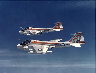 Second VA-65 (U.S. Navy) - VA-65 A-6Es in 1972
