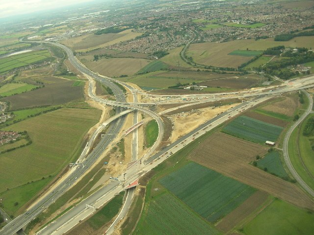 A1(M) and M62 interchange