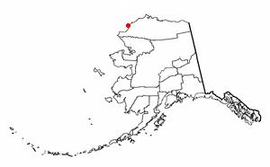 Point Lay, Alaska - Image: AK Map doton Point Lay