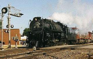 preserved American 4-8-4 locomotive (ATSF 3751 class)