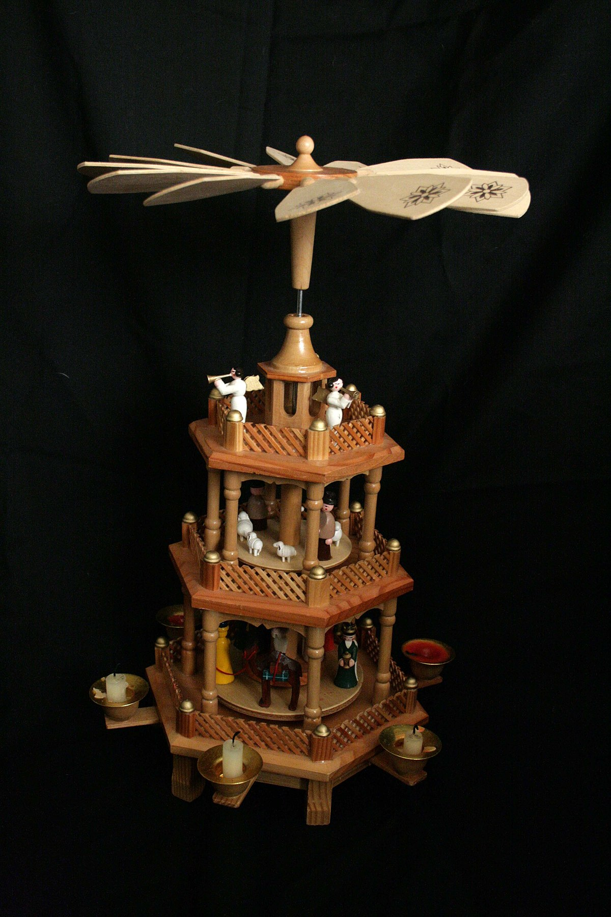 christmas pyramid wikipedia - German Handmade Wooden Christmas Decorations