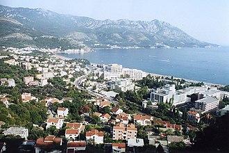 Bečići - Bečići as it seen from Cetinje — Budva road