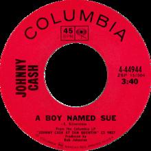 A Boy Named Sue por Johnny Cash 1969 US single side-A.png