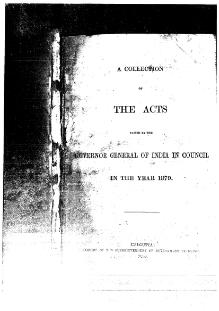 A Collection of the Acts passed by the Governor General of India in Council, 1879.djvu