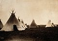 A Piegan Indian encampment, North America; tipis, including Wellcome V0038484.jpg
