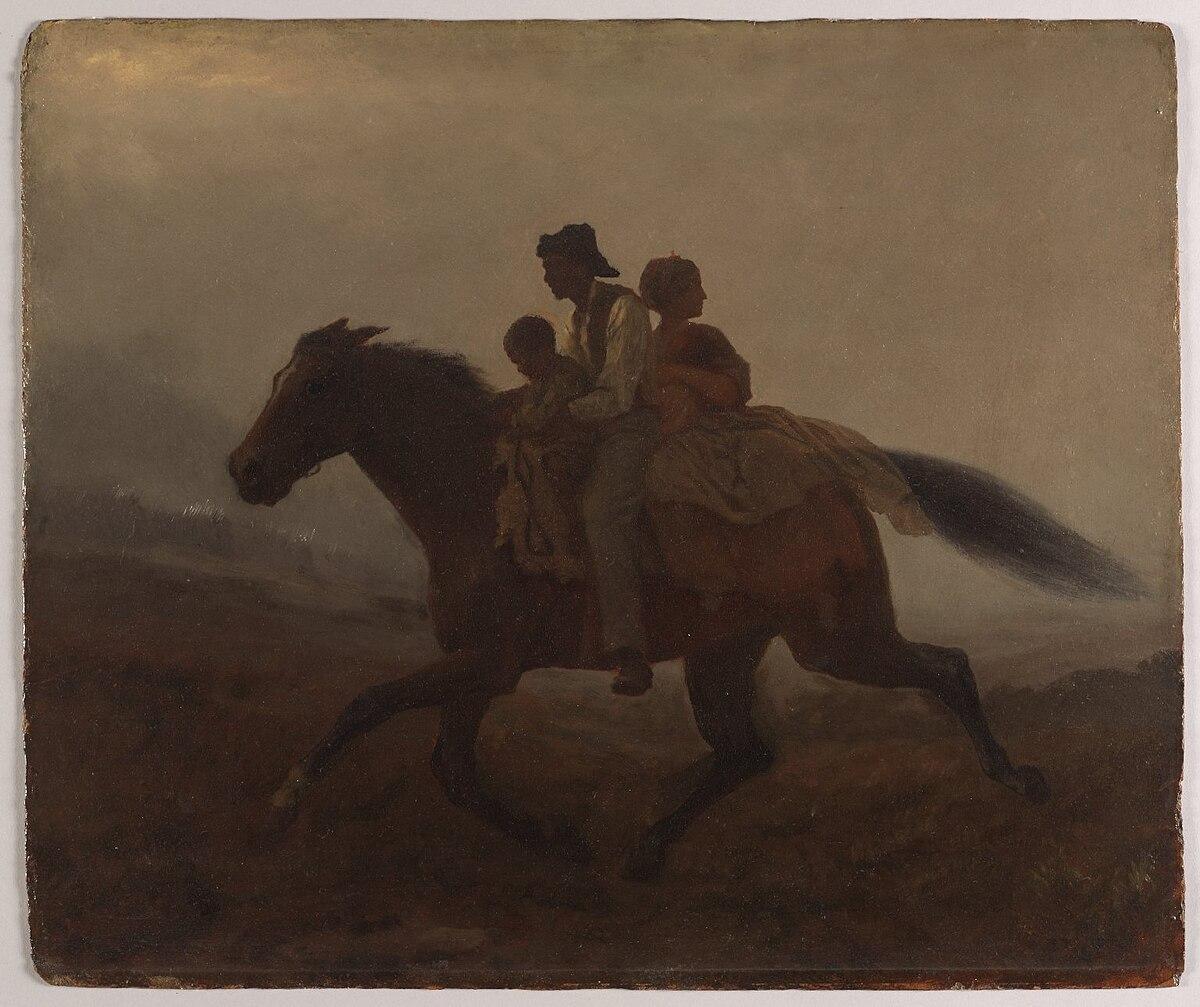 A Ride for Liberty -- The Fugitive Slaves (recto) Eastman Johnson.jpg