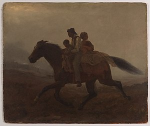 Fugitive slave laws - A Ride for Liberty—The Fugitive Slaves (c. 1862) by Eastman Johnson Brooklyn Museum