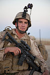 A U.S. Marine with Fox Company, 2nd Battalion, 8th Marine Regiment, Regimental Combat Team 7 conducts a mission rehearsal at Camp Bastion, Afghanistan, May 27, 2013 130527-M-QZ858-029.jpg