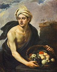 A Young Man with a Basket of Fruit (Personification of 'Summer')