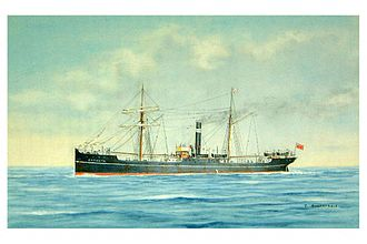 SS Camorta - SS Camorta in a painting by Tom Robinson