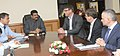 A delegation accompanied by the High Commissioner of Australia, Mr. Patrick Sucking meeting the Minister of State (Independent Charge) for Petroleum and Natural Gas, Shri Dharmendra Pradhan, in New Delhi on August 05, 2014.jpg