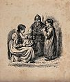 A family group with an old lady, a young woman with a child Wellcome V0038889.jpg