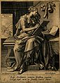 A female figure book keeping; representing arithmetic. Engra Wellcome V0007526.jpg