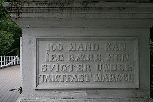 Åmodt bro - Inscription