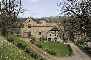 Beaulieu-en-Rouergue Abbey - View of monastic buildings.