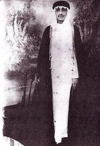 Emirate of Jabal Shammar - An early photograph of ʿAbdullah II bin Mutʿib II bin ʿAbd al-ʿAzīz bin Mutʿib I bin ʿAbdullah I bin Rashīd, the 11th Amir of Jabal Shammar.