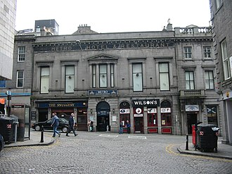 Stonemasonry - Typical Aberdeen city street showing the widespread use of local granite