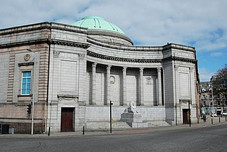 Aberdeen Art Gallery - Memorial Court and Cowdray Hall (exterior)