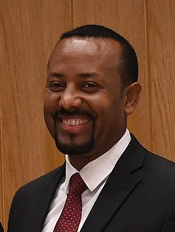 Abiy Ahmed during state visit of Reuven Rivlin to Ethiopia, May 2018