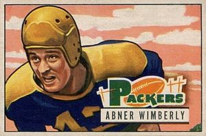 Abner Wimberly - Wimberly on a 1951 Bowman football card