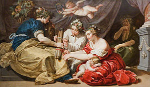 Twelve Years' Truce - Allegory of Peace and Plenty painted by Abraham Janssens to laud the return of prosperity during the Twelve Years' Truce.