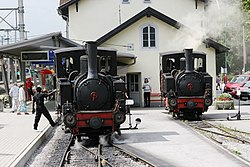 Two locomotives at Jenbach station