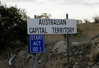 Australian Capital Territory - ACT sign