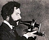 Actor portraying Alexander Graham Bell in an AT&T promotional film (1926).jpg