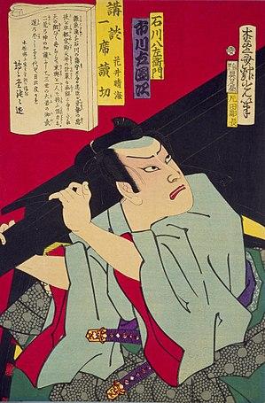 Adachi Ginkō - Image: Adachi Ginkō (1874) Ichikawa Hachiēmon Ichikawa Sadanji (cropped)