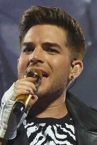 Adam Lambert - Image: Adam Lambert Queen Houston 7 9 14