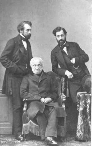 Adam Jerzy Czartoryski - Czartoryski (seated) and sons. Standing to his right is Władysław Czartoryski.