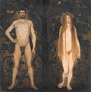 Adam and Eve by Harald Slott-Moller - Statens Museum for Kunst - DSC08287.JPG