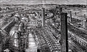 Coal oil - James Young's Addiewell Works in West Lothian