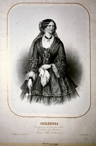 Princess Adelgunde of Bavaria - Lithograph by Carl Goebel