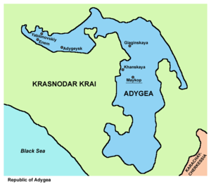 Adygea - Map of Adygea