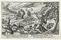 Aeneas ontvlucht het eiland van de Cyclopen Speculum Aeneidis Virgilianae (serietitel), RP-P-OB-16.019.jpg