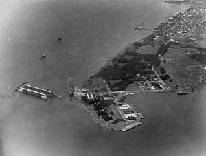 Olongapo - Aerial view of the Olongapo Naval Station in 1928