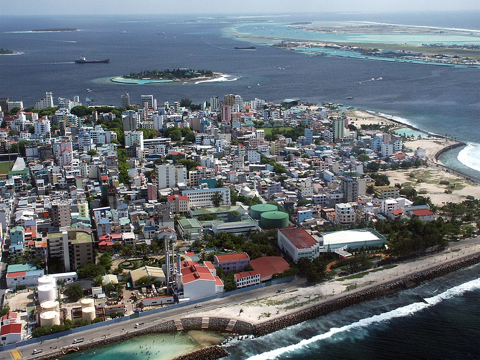 Aerial view of Malé