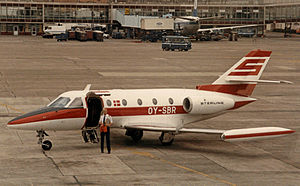 Sterling Airlines - Sterling Aerospatiale Corvette operated on charter services at Brussels Airport in July 1985