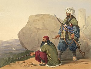 Kabul Expedition (1842) - Afghan tribesmen (in British service) in 1841