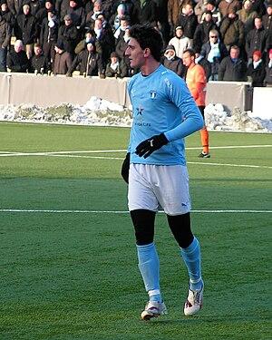 Agon Mehmeti - Mehmeti playing for Malmö FF in 2010