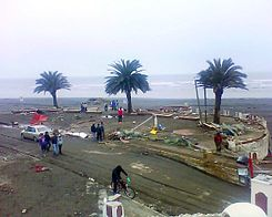 The Mirador was completely destroyed by the action of both tsunami and earthquake. Image: Diego Grez.