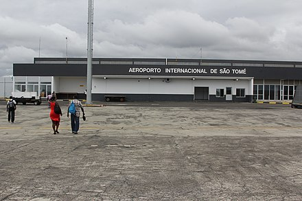Sao Tome International Airport Airside View of the Terminal Building - Sao Tome International Airport.JPG