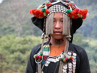 Akha people - An Akha girl in Laos