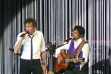Description de l'image Alain Souchon & Laurent Voulzy Forest National 2015.JPG.