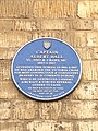 Albert Ball blue plaque, Grantham.jpg